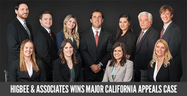 Higbee & Associates Wins California Appeals Case