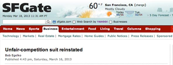 san francisco chronicle appellate case victory higbee